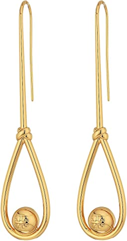 Tory Burch - Logo Loop Linear Earrings