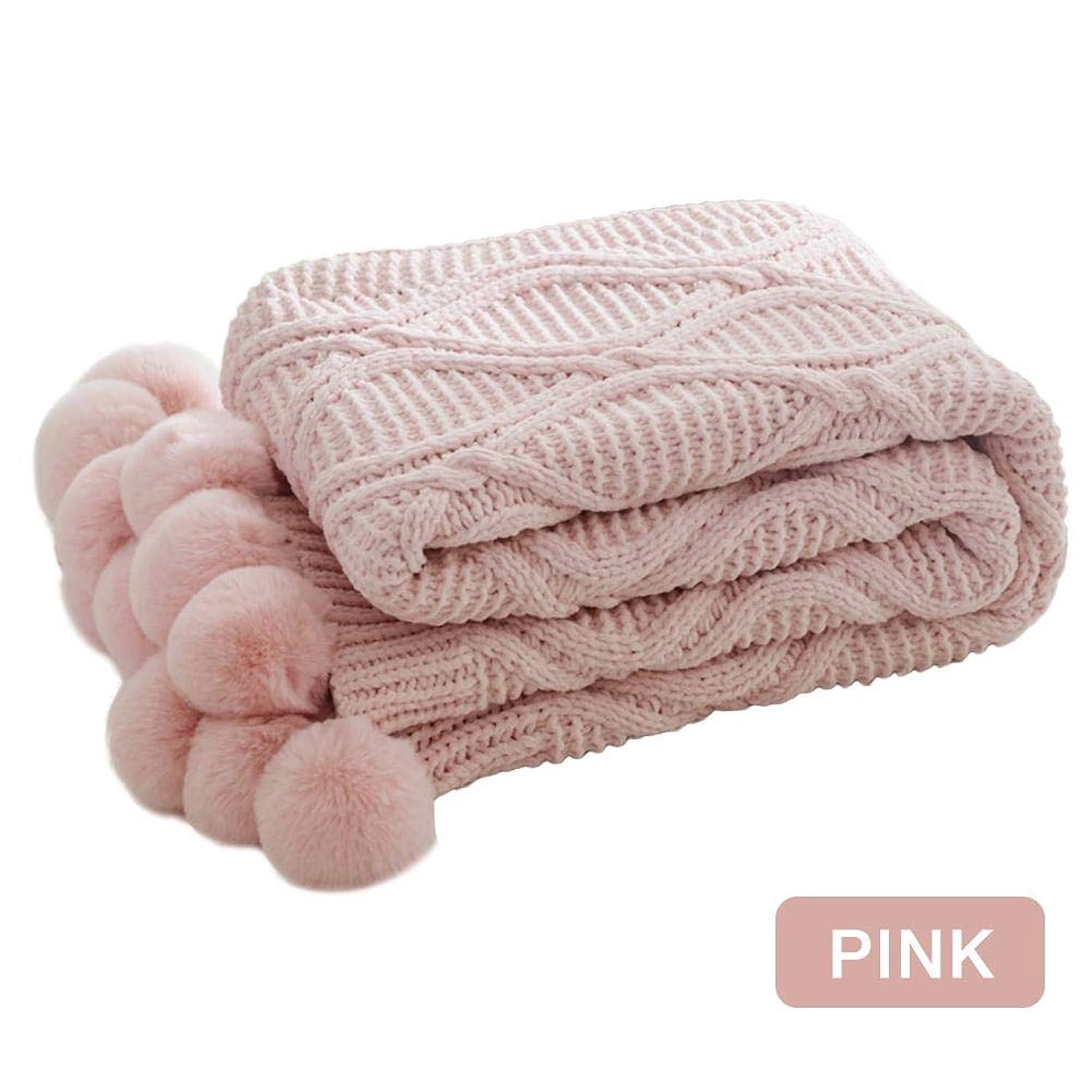 普遍的な誠意ツインRagem 毛布 ブランケット 掛け毛布 ポンポン 昼休み 肩掛け シェニール ベッドスロー ひざ掛け ふわふわ 柔らかい 冷房対策 130 x 160cm