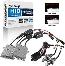 Sidaqi H4 HID Kit de conversión de faros de xenón 6000K Dos balastos HID ultradelgados de 55W para faros delanteros/luces bajas Automóviles
