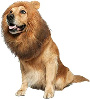 Fashionme Lion Mane Wig with Ears for Dog Pet Realistic Funny Costumes Fancy Hair Clothes Dress