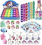 Unicorn Theme Party Favor For Kids-96Pcs Unicorn Tatoo-24Pcs Unicorn Stamper-27 Pcs...