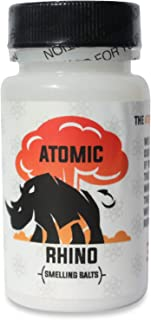 Atomic Rhino | Smelling Salts for Athletes | 100's Of Uses per Bottle | Explosive Workout Sniffing Salts for Massive Energy Boost | Just Add Water to Activate Pre Workout