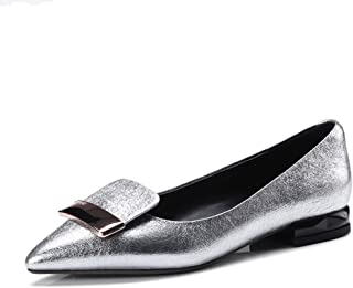 Nine Seven Women's Leather Pointtoe Slip On Flats