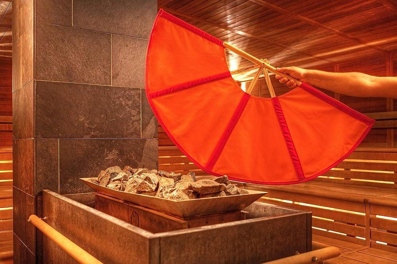 Rot Orange Aufgussfcher, 105 cm Spannweite, Fcher Aufguss