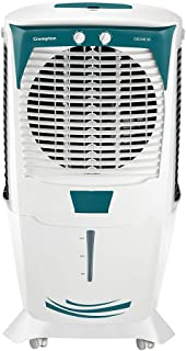 Crompton Ozone 55-Litre Inverter Compatible Desert Air Cooler with Honeycomb Pads for Home and Commercial (White and Teal)