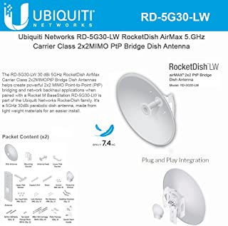 Ubiquiti Networks airMAX 2x2 PtP Bridge Dish Antenna