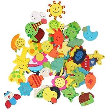 R H lifestyle Wood Fridge Magnet (Multicolour)
