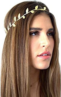 Kulywon Bronzing Leaves Women Headband Elastics for Girl Hair Head Band Hair Band for Women