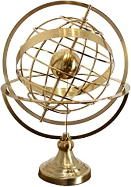 QERNTPEY-OP Globe Earth Globe with Stand Home Desktop Retro Old Crafts Office Living Room Decorations for Home and Office Decoration (Color : Metallic, Size : 33x44cm)