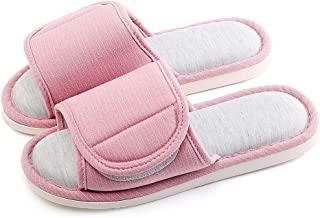 Cotton and Linen Slippers, Casual Indoor Outdoor Open-Toe Shoes, Women and Men's Washable Cotton Flax Slipper Use,Pink,M