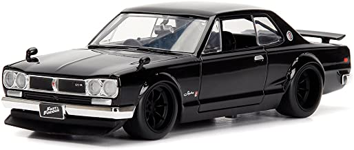 StarSun Depot Brian's Nissan Skyline 2000 GT-R Black from The Fast and the Furious Movie 1/24 Model Car by Jada