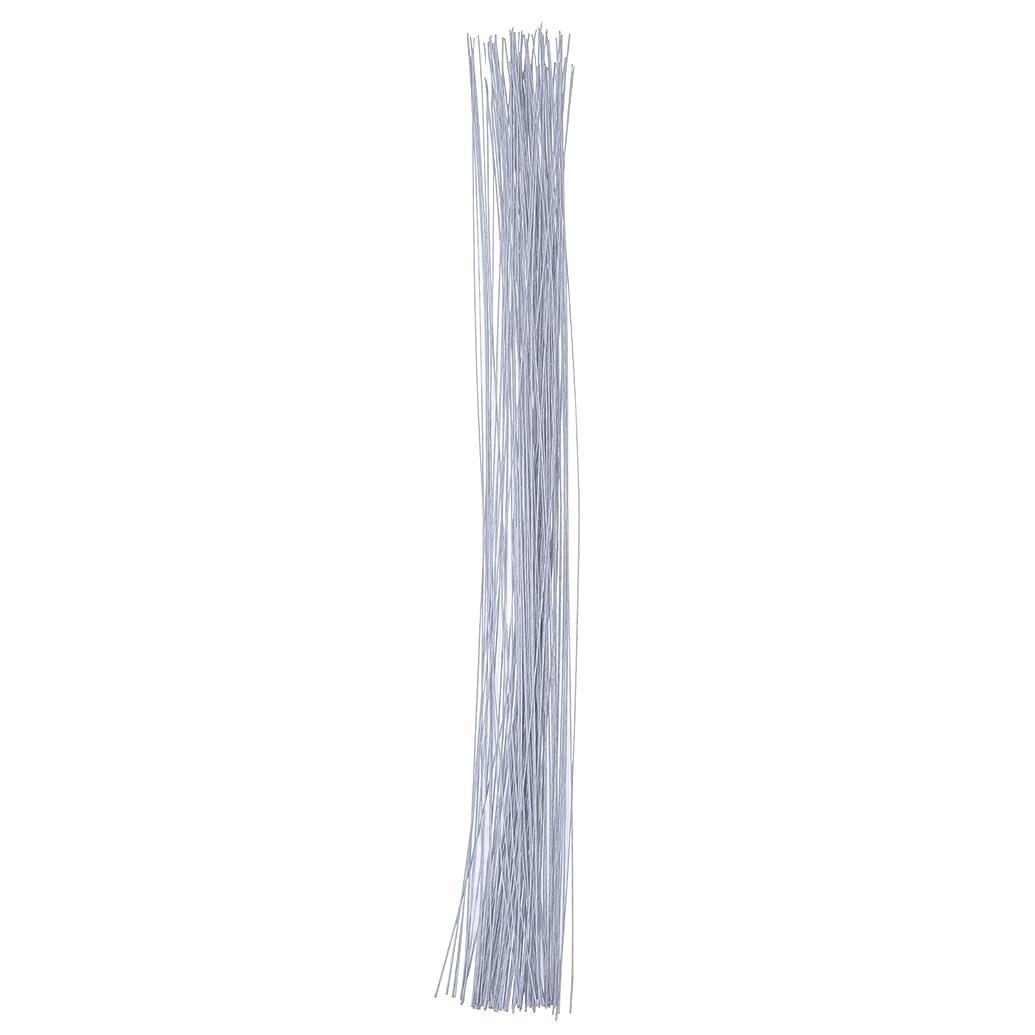 eBoot Stem Wire Floral Wire 14 Inch 26 Gauge Wire, 100 Pieces (White)