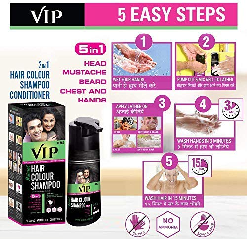 VIP PLUS HAIR COLOR SHAMPOO BLACK