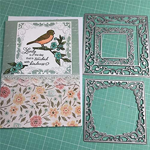 Revoshop Lace Square Dies Nested Dies2019 Metal Cutting SEAL Cheap super special price limited product Frame Sc