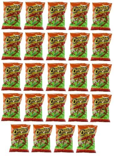 Delicious Treats Cheetos Crunchy Flamin Hot Limon 24 Bags of 2 Oz - Tj13
