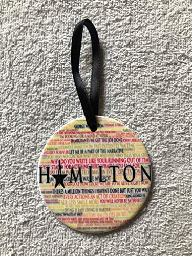 Hamilton Christmas Tree Ornament~Broadway~Lightweight Porcelain~Tree Decor~Decoration~Gift Boxed