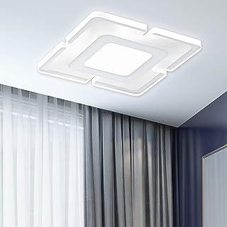 Luz de Techo LED Ultrafina de Forma Cuadrada Lámpara LED de Techo Sencillo 15W 5500K 2300LM Plafón Led Techo Instalación Fácil Para la Sala de estar del Dormitorio…