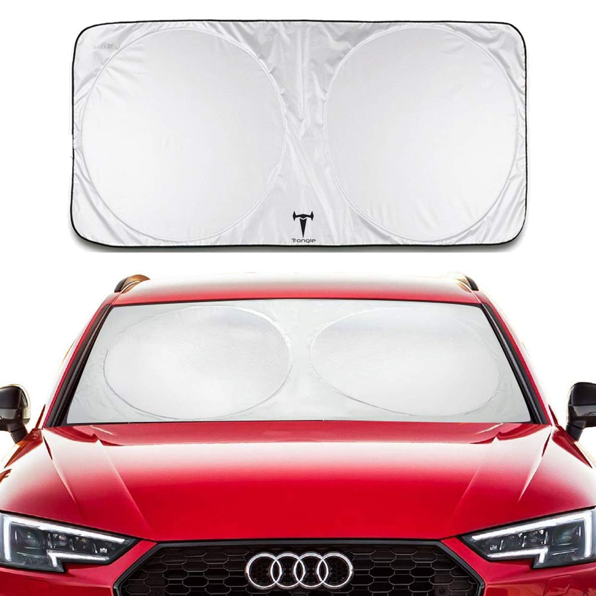 SANTOO Retractable Car Windscreen Sunshade for Windshield Front Window Sun Shade UV Protection,Cover 97/%