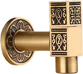 Panda Legends [Square] Brass Outdoor Antique Faucet Mop Pool Faucet Wall Faucet Kitchen/Garden