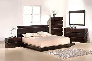 J&M Furniture Knotch Brown Veneer Queen Size Bedroom Set