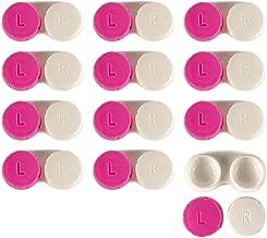 Contact Lens Case 12 Pack - Pink Travel Safe Holder