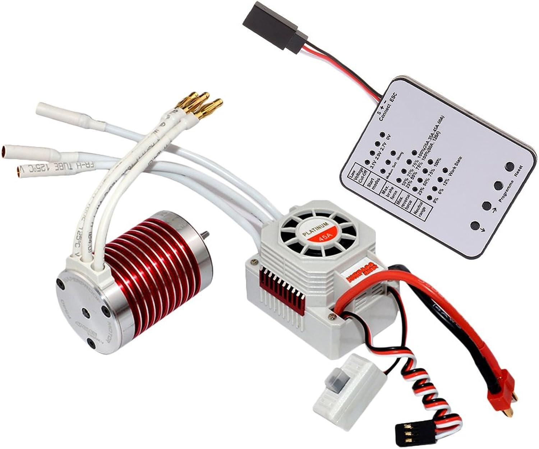edición limitada en caliente Homyl F540 F540 F540 4370KV Motor Sin Escobillas Impermeable + 45A ESC + LED Tarjeta de Programación para 1 10 RC Coche Barco  punto de venta