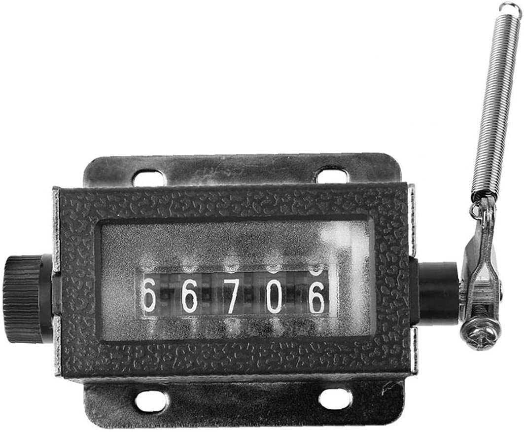 Mechanical Free shipping anywhere in Brand new the nation Tally Counter Manual 5 Pulli Digit Resettable 0-99999