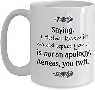 Aeneas Mug Inspired by Virgil39s Aeneid Gift for Classics Lover Homeschool Mom Teacher