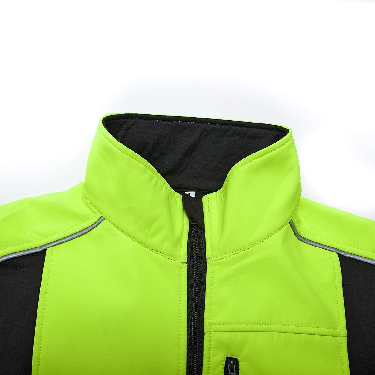 Herren Fahrradjacke Fahrrad Winter Fleece Jacke Top Warm Winddicht Fleece Futter Sport MTB Rennrad Radbekleidung