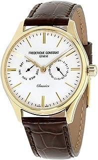 Frederique Constant Geneve - Classics Quartz FC-259ST5B5 Reloj de Pulsera para Hombres con Pulsera Adicional