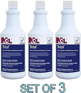 NCL TOTAL Non-Acid Bowl & Bathroom Cleaner 1 QT [SET OF 3]