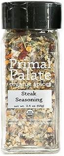 Primal Palate Organic Steak Seasoning, Certified Organic, 2.4 oz Bottle