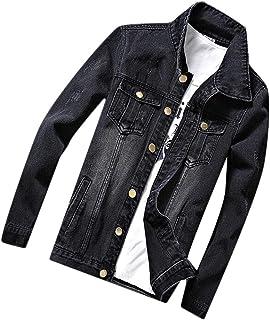 WSPLYSPJY Men's Classic Rugged Washed Vintage Denim Trucker Jacket