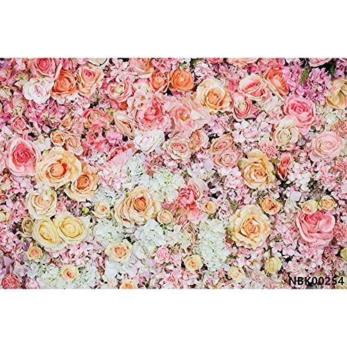 Fantasía Flores Pared Rosa Bush Baby Shower Decro cumpleaños Fiesta Boda Foto Fondos fotográficos A2 1,5x1 m