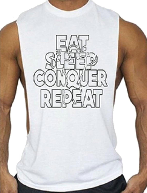 maweisong メンズ?フィットネスジムボディービルトレーニング?タンクトップシャツ