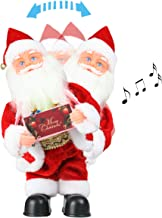 LYCXC Musical Santa Claus Plush Toy Christmas Santa Claus Doll Singing Dancing Electric Santa Claus Music Box Xmas Gift for Kids