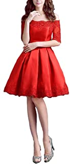 9342888b9d0 Lemai Off Shoulder Lace Vintage Short A Line Prom Cocktail Party Homecoming  Dresses