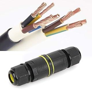 Aansluitdoos Kabelconnector, 2 STUKS IP68 waterdichte connector 3-aderige buitenkabel Waterdichte connector, verlengsnoer ...