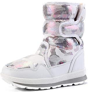 DADAWEN Girl's Boy's Waterproof Outdoor Cold Weather Snow Boots (Toddler/Little Kid/Big Kid)