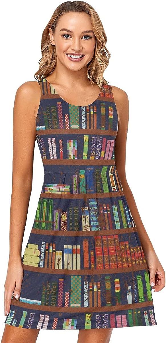Sleeveless Dress for Women's - Summer Beach Sun Dress Casual Dresses with Pockets