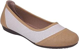pelle albero Womens Cream Comfortable Casual Shoes