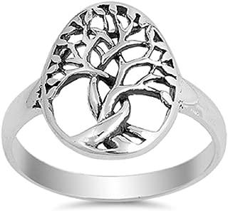 Sterling Silver Tree of Life Designer Ring