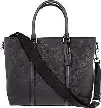 Coach Metropolitan Men's Large Leather Tote Bag 56660QBBK, Black