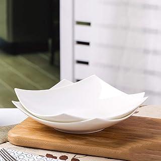 ディナープレートキッチン食器家庭用朝食プレートホワイトセラミックス8インチ食器
