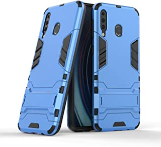 FanTing Case for LG W30 Pro, Rugged and shockproof,with mobile phone holder, Cover for LG W30 Pro-Blue