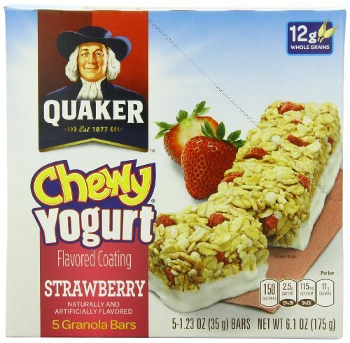 Quaker Yogurt Chewy Granola Bar Strawberry Bars Pack Max 79% OFF of 5 6 Seasonal Wrap Introduction