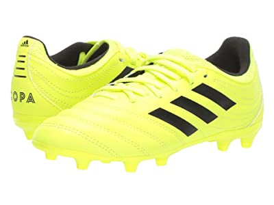 adidas Kids Copa 19.3 FG Soccer (Little Kid/Big Kid) (Solar Yellow/Black) Kids Shoes