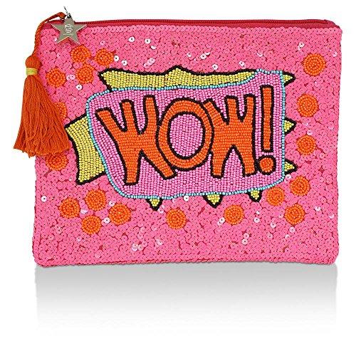 cute stuff Clutch mit Perlen WOW, Pink