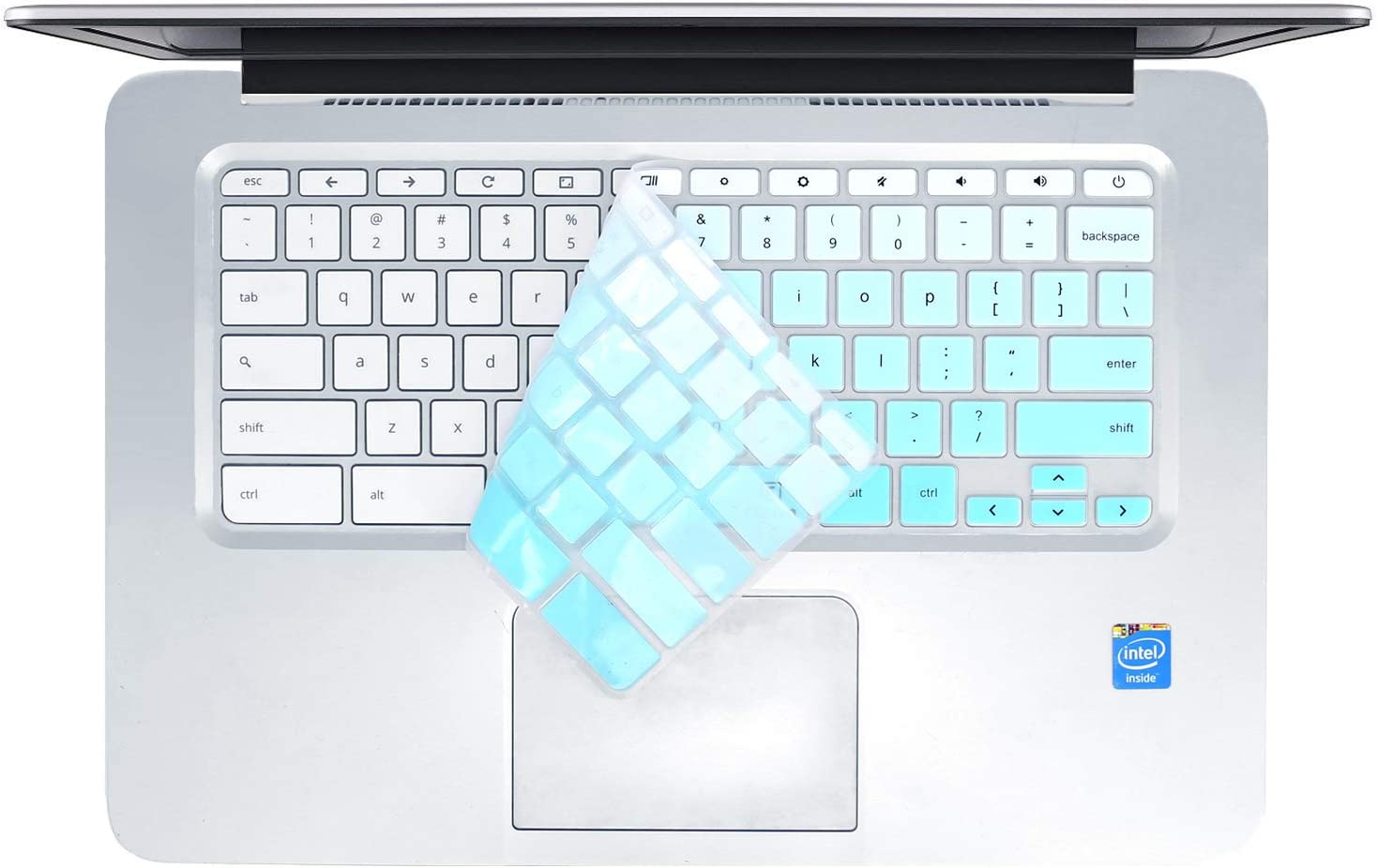 Ombre Hot Blue FORITO KeyboardCover Compatible with HP Chromebook 14 HP Chromebook 11 G1 G2 G3 G4 G5 G6 EE 11.6 Inch//HP Chromebook x360 11.6 ae Series//HP Chromebook 11 G6 EE 11.6 //HP Chromebook