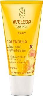 WELEDA Baby Calendula Wind- und Wetterbalsam, Naturkosmetik Gesichtscreme und Handcreme für den Schutz von trockener Haut vor rauer Witterung und Kälte 1 x 30 ml